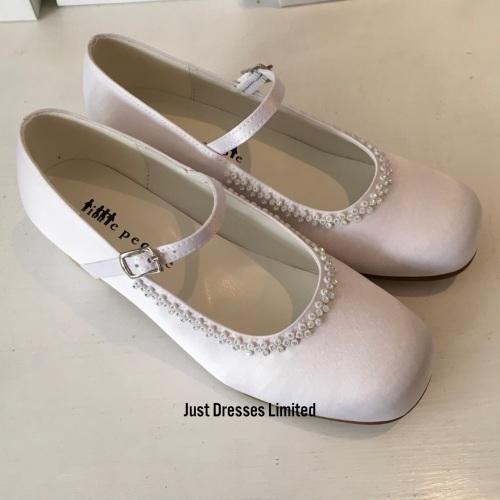 White Communion Shoes Little People 5804